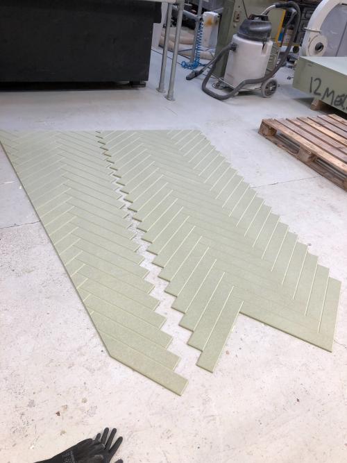 Faux Parquet Stage Flooring