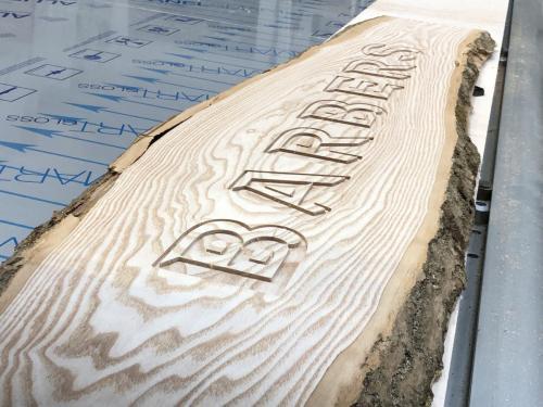 Raw Wood Engraving
